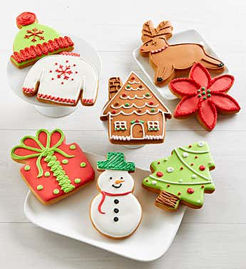 Homespun Holiday Artisan Iced Cookies